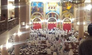 Ethiopian Orthodox Church  Celebrating on the night of Holy Saturday